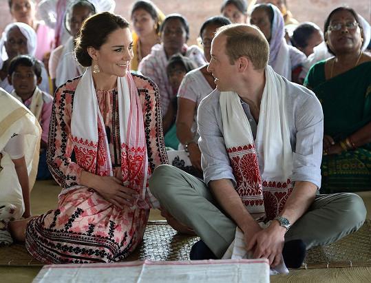 A takto se včera William s chotí loučili s Indií...