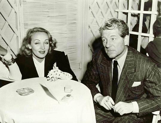 Jedním ze slavných milenců náladové Marlene byl Jean Gabin.