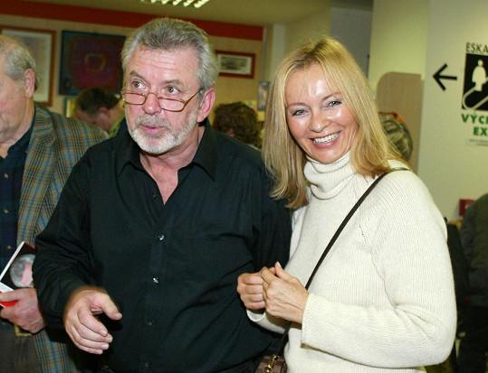 Jaromír Hanzlík a jeho předchozí přítelkyně Dana Mauerhoferová na snímku z roku 2002.