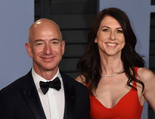 Jeff Bezos s MacKenzie Scott (tehdy ještě Bezos)