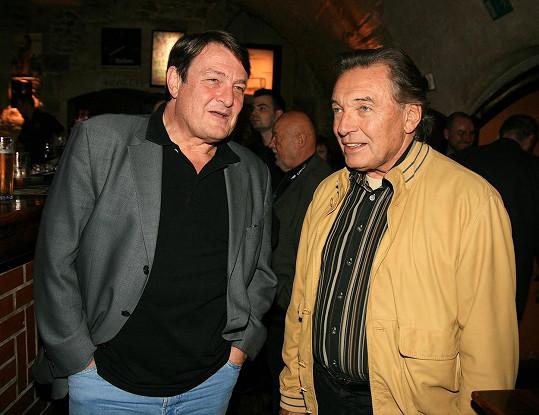 Štaidl se svým dlouholetým spolupracovníkem a přítelem Karlem Gottem (2007)