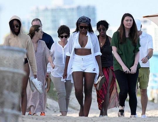 Michelle Obama (53) během své návštěvy Miami na Floridě