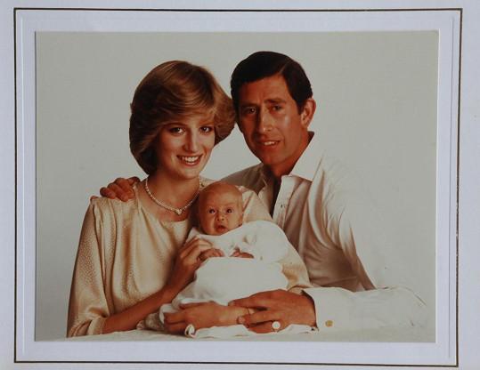 Mezi nejoblíbenější fotografie patří ty s Dianou, na snímku s Charlesem a vykuleným Williamem