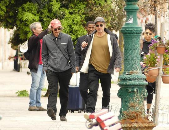 Brad Pitt se Saulem Fletcherem v Benátkách