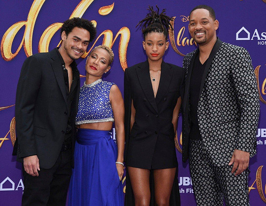 Zprava: Will Smith, Willow, Jada Pinkett Smith, Trey Smith