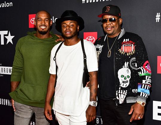 Bobby Brown se svými dvěma syny - Bobby (uprostřed) a Landon