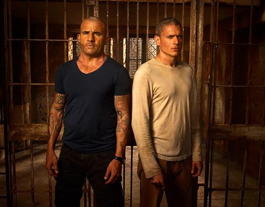 S kolegou Dominicem Purcellem v Útěku z vězení