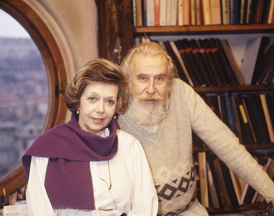 Zdeněk Podskalský s partnerkou Jiřinou Jiráskovou na archivním snímku