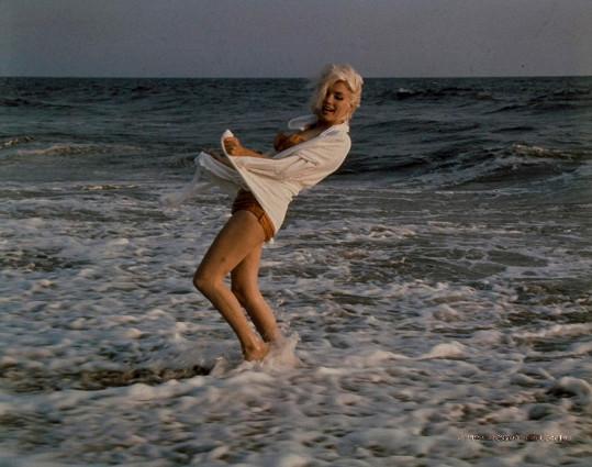 Marilyn na pláži v Santa Monice
