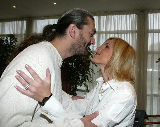 Leona Machálková s Danem Hůlkou na počátku kariéry