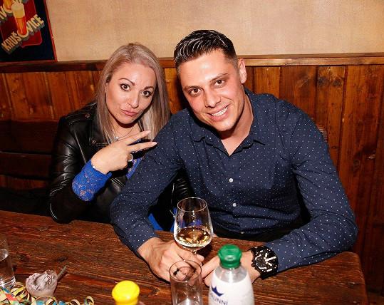 Martina Balogová s přítelem