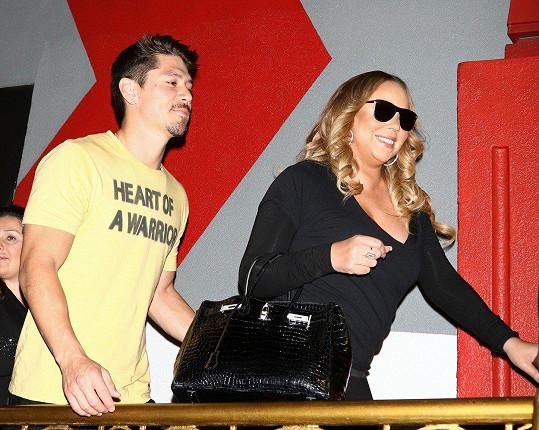 Mariah Carey se svým zajíčkem Bryanem Tanakou