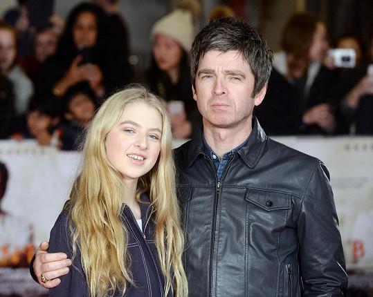 Anais Gallagher se slavným otcem Noelem