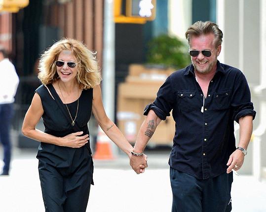 Meg Ryan se svým partnerem Johnem