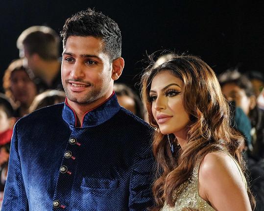 Amir Khan s manželkou Faryl Makhdoom