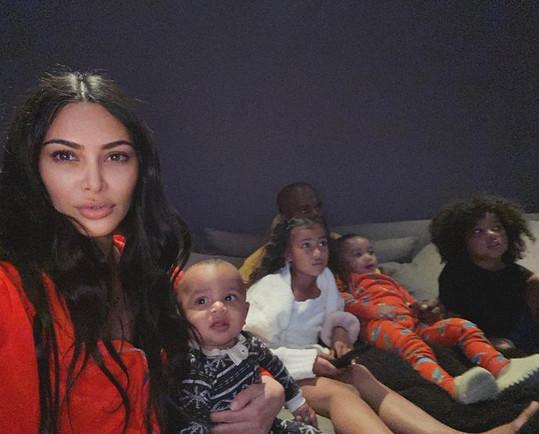 Kim má s Westem čtyři děti.