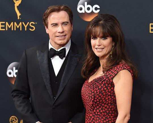 John Travolta se zesnulou manželkou Kelly Preston