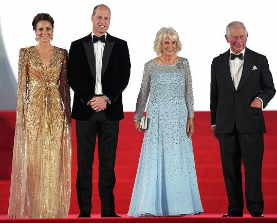 Na premiéru vyrazili i s princem Charlesem a vévodkyní Camillou.