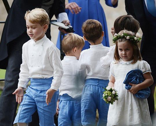 George a Charlotte ozdobili další svatbu.