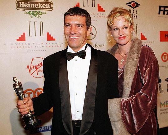 Stellu má Banderas s herečkou Melanií Griffith.