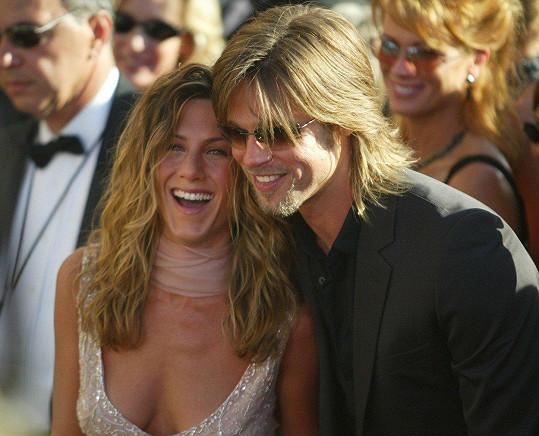 Brad Pitt a Jennifer Aniston v roce 2002