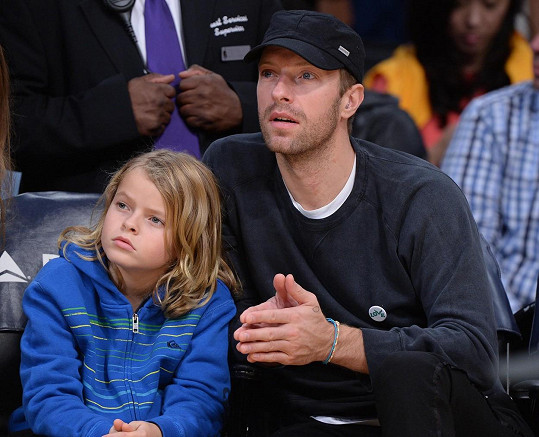 Chris Martin z Coldplay se synem Mosesem