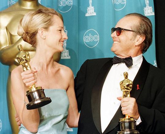 Helen Hunt s Jackem Nicholsonem a Oscarem za film Lepší už to nebude