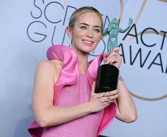 Emily Blunt se dočkala ceny SAG za vedlejší roli ve filmu Tiché místo.