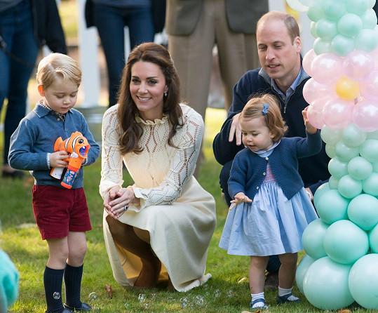 Kate a William vzali své děti na návštěvu Kanady.