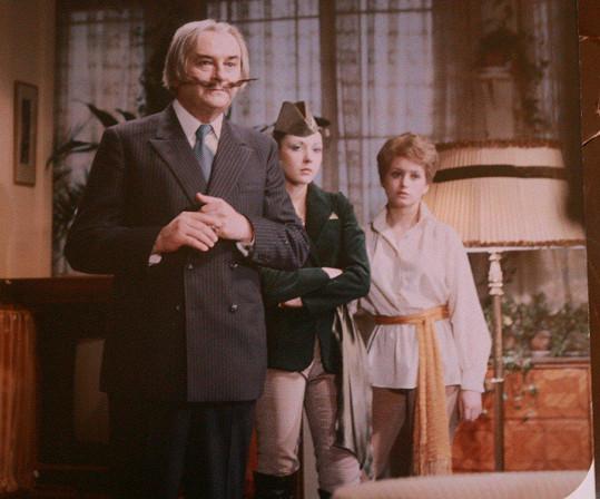 Jiří Sovák, Dáda Patrasová a Jana Nagyová v pohádkovém seriálu Arabela(1980)