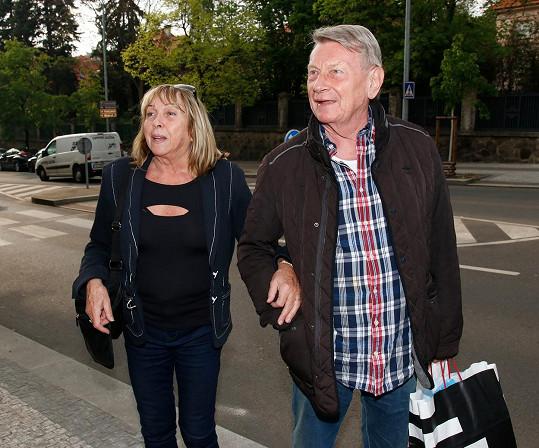 Josef Dvořák s manželkou