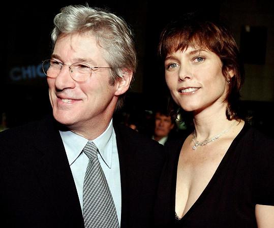 Richard Gere s druhou ženou Carey Lowell, s níž má syna Homera