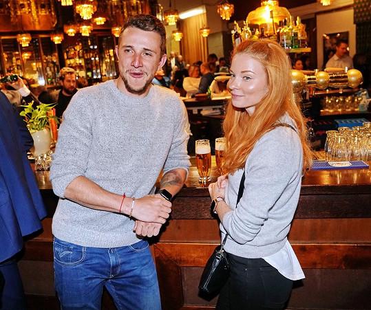 Jakub Štáfek s přítelkyní Dominikou
