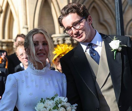 Novomanželé Ellie Goulding a Caspar Jopling