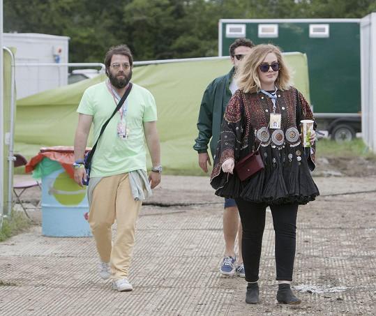 Adele a její bývalý manžel Simon Konecki na archivním snímku