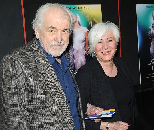 Olympia s manželem Louisem Zorichem. Svého muže přežila o tři roky.