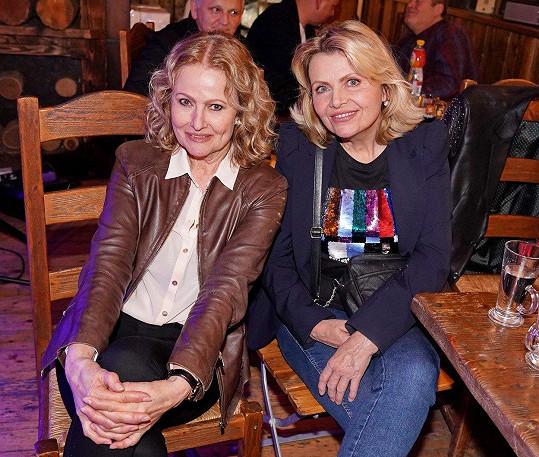 Zpěvačky Hana Buštíková a Dana Vlková vyrazily po delší době do společnosti.