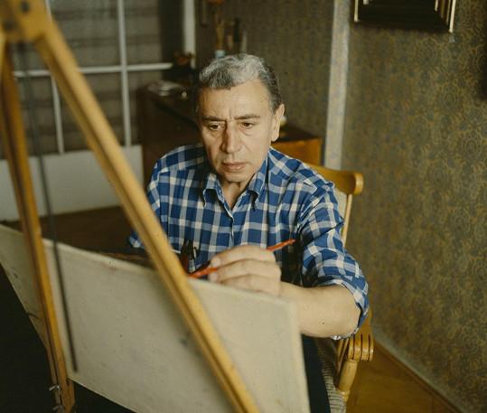 Byl také vášnivý malíř.