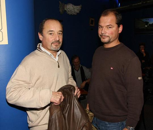 Viktor Preiss se synem Martinem před pár lety