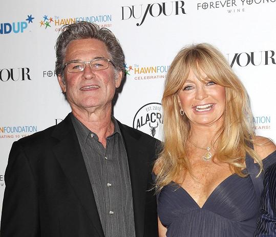 Goldie s životním partnerem Kurtem Russellem