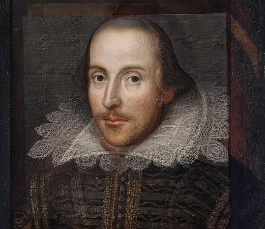 William Shakespeare (1564-1616) anglický básník, dramatik a herec, velikán světové literatury.