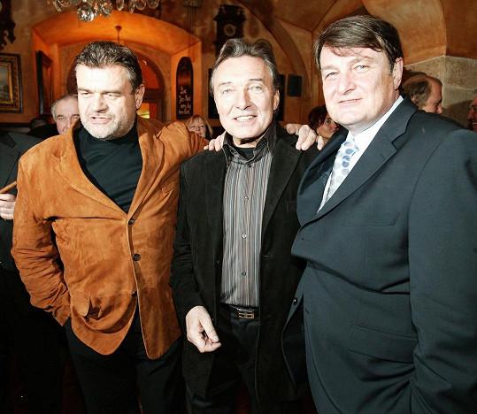 Ladislav Štaidl s dalším hitmakerem Karlem Svobodou a Karlem Gottem