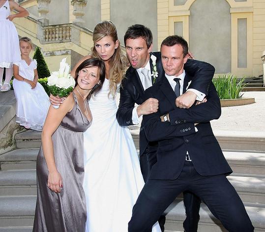 Na svatbě bylo veselo.