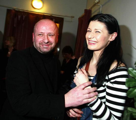 Pavlína Babůrková a Petr Kratochvíl na snímku z roku 2005