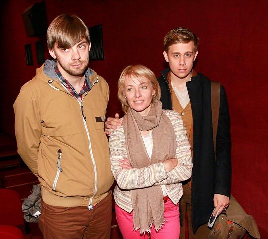 Veronika Žilková se syny Vincentem a Cyrilem, které má z manželství s Markem Navrátilem.