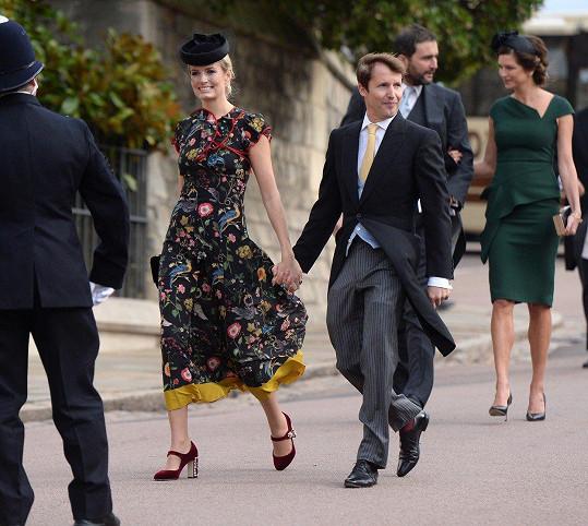 Gabriela byla jedinou Češkou na svatbě britské princezny.