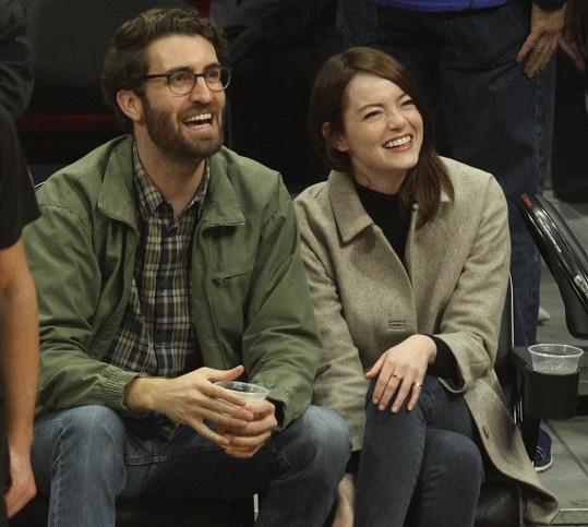 Emma Stone s manželem Davem McCarym (archivní foto)