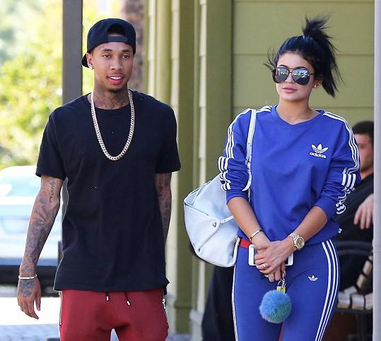 Tenhle páreček (Tyga a Kylie Jenner) už je možná minulostí...