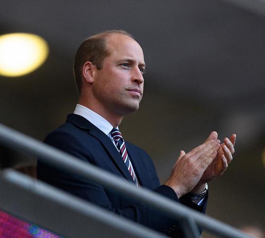 Princ William nechyběl na semifinálovém zápase Anglie a Dánska.