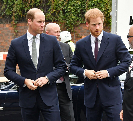 William s Harry jednali s královnou.